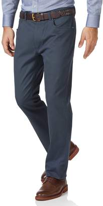 Charles Tyrwhitt Airforce Blue Slim Fit 5 Pocket Bedford Corduroy Cotton Tailored Pants Size W30 L32