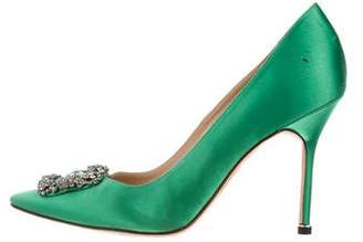 Manolo Blahnik Hangisi Pointed-Toe Pumps