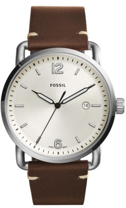 Fossil The Commuter Leather Strap Watch, 42Mm $95 thestylecure.com