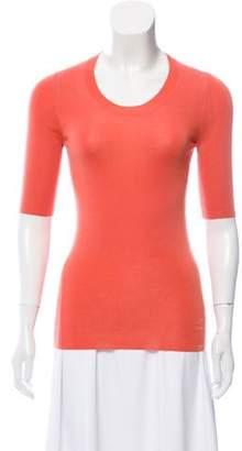 Hermes Cashmere Short Sleeve Top