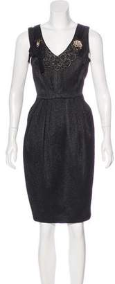Carmen Marc Valvo Wool-Blend Dress