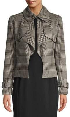 Anne Klein Plaid Point Collar Blazer
