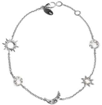 Anzie Aztec Starburst Celestial White Topaz Charm Bracelet
