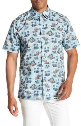 Toscano Short Sleeve Tropical Print Woven Shirt