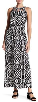 Papillon Sleeveless Print Maxi Dress