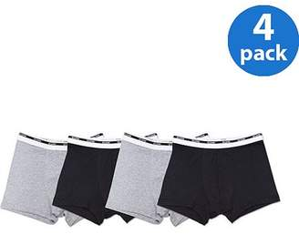 Gildan Men's Black and Grey Trunk Brief Underwear, 4-Pack