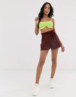 Asos Design DESIGN shorts with paperbag waist and tie