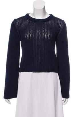 3.1 Phillip Lim Rib Knit Cropped Sweater