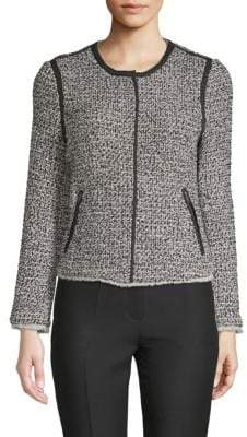 Saks Fifth Avenue Tweed Zip-Up Jacket