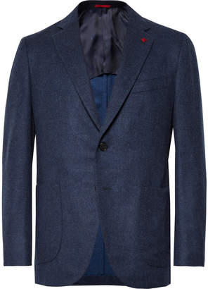 Isaia Storm-Blue Slim-Fit Wool and Cashmere-Blend Blazer