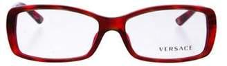 Versace Square Eyeglasses Brown Square Eyeglasses
