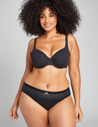 Lane Bryant Cotton Hipster Panty with Lace Waist
