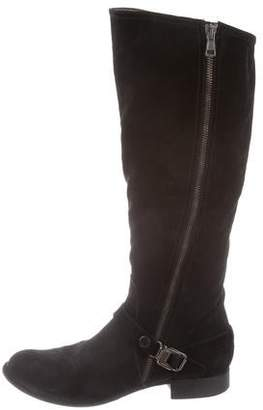 Alberto Fermani Suede Knee-High Boots