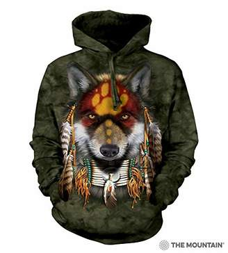 The Mountain Native Wolf Spirit Adult Hoodie