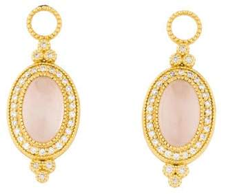 Jude Frances 18K Diamond-Accented Rose Quartz Provence Earring Enhancers