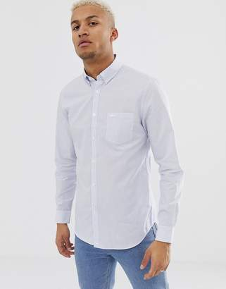 Lacoste striped slim fit logo shirt
