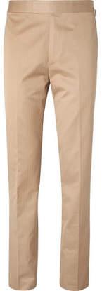 BEIGE Kingsman Eggsy's Slim-Fit Herringbone Cotton Suit Trousers