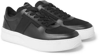 Tod's Cassetta Leather And Mesh Sneakers