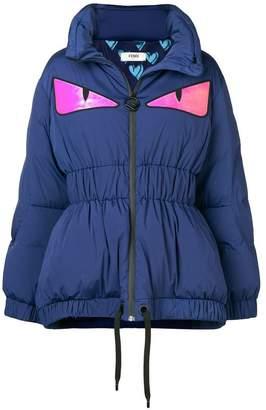 Fendi Eyes print puffer jacket