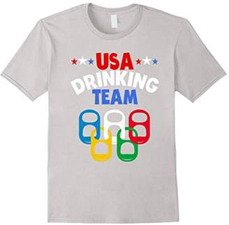 USA Drinking Team TShirt Red White & Blue America Party Tee