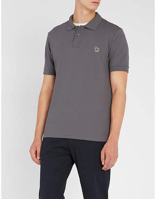 Paul Smith Zebra-embroidered cotton polo shirt