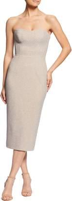 Dress the Population Claire Metallic Body-Con Midi Dress