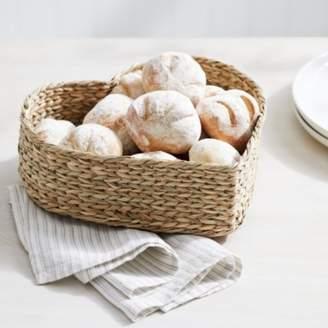 The White Company Seagrass Heart Bread Basket