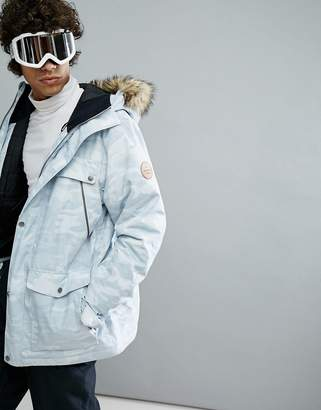 Quiksilver Selector Ski Parka In White Camo