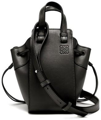 Loewe Hammock Mini Black Leather Cross Body Bag - Womens - Black
