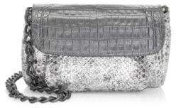 Nancy Gonzalez Python& Crocodile Accordion Crossbody Bag