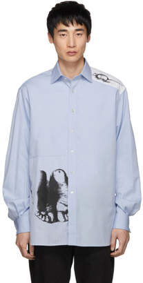 J.W.Anderson Blue Albrecht Durer Edition Feet and Mouse Formal Shirt