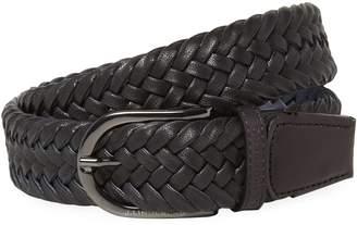 J. Lindeberg Golf Men's Brayden Cow Leather Belt