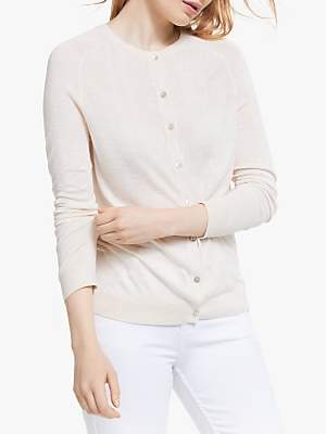 John Lewis & Partners Button Through Cardigan, Neutral