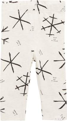 miles baby Snowflake Knit Leggings