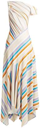 Peter Pilotto Off-the-shoulder striped-jersey dress
