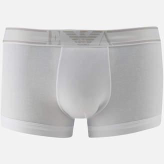 Emporio Armani Men's Soft Cotton Trunks - Bianco - S - White