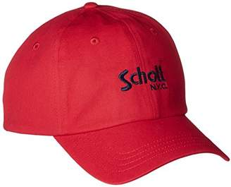 Schott (ショット) - (ショット) Schott COTTON TWILL CAP BASIC LOGO 3179029 34RED/BLACK RED/BLACK F