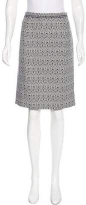 Tory Burch Patterned Pencil Skirt