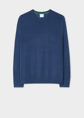 Paul Smith Men's Blue Merino Wool Sweater