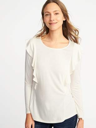 Old Navy Ruffle-Trim Top for Women