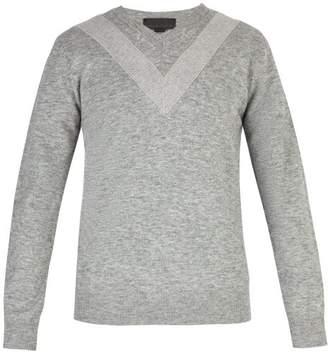 Stella McCartney Chevron Wool Blend Sweater - Mens - Grey
