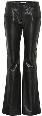 Altuzarra Leather flare pants