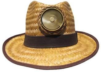 Kool Breeze Solar Hat Kool Breeze Solar Cooling Straw Hat - Fedora (Brown) Hat w. Wide Band (One/Size)