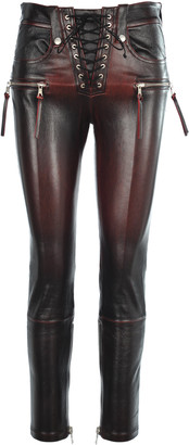 Taverniti So Ben Unravel Project Unravel Stretch Leather Skinny Lace-up Trousers