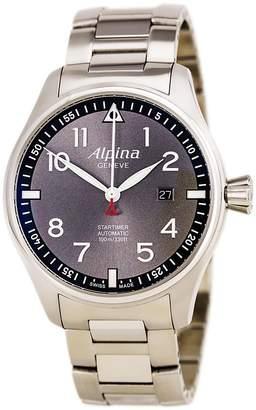 Alpina AL-525GB4S6B Men's Startimer Pilot Sunstar Grey Dial Steel Bracelet Automatic Watch