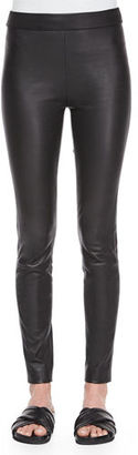 Theory Adbelle Leather Axiom Pants $1,000 thestylecure.com