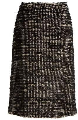 Simone Rocha Textured-tweed skirt