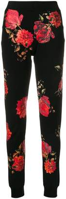 Philipp Plein floral fitted trousers