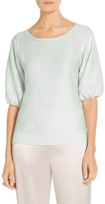 St. John Fine Gauge Sequin Knit Blouson Sweater