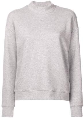 Derek Lam 10 Crosby Ribbed Mock Neck Collar Sweatshirt